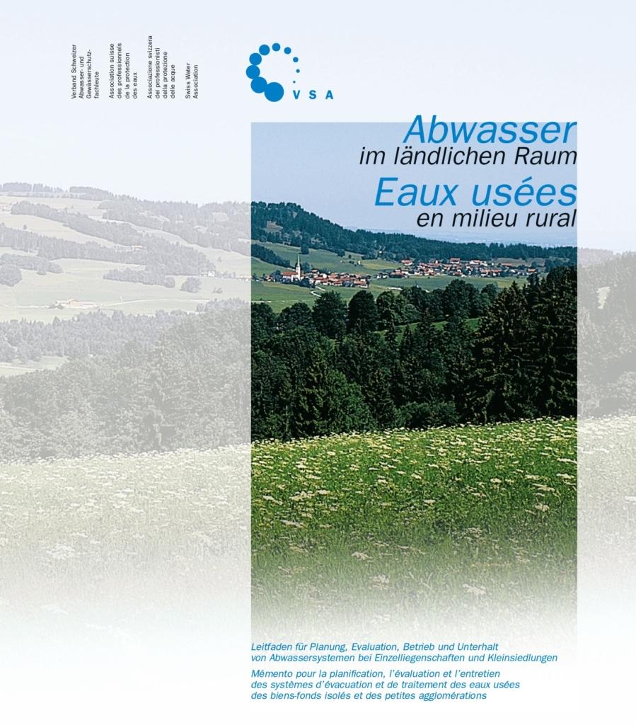 """Titelseite VSA-Leitfaden """"Abwasser im ländlichen Raum"""""""