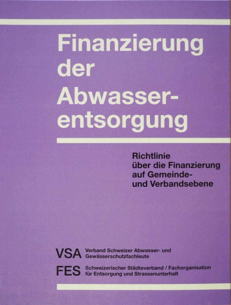 Titelbild Finanzierung der Abwasserentsorgung