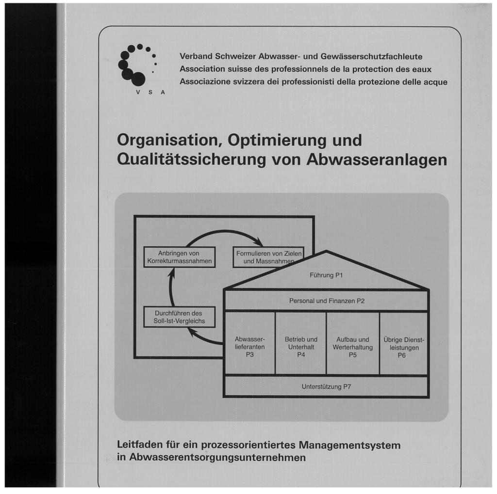 Titelseite der Publikation Organisation, Optimierung und Qualitätssicherung von Abwasseranlagen