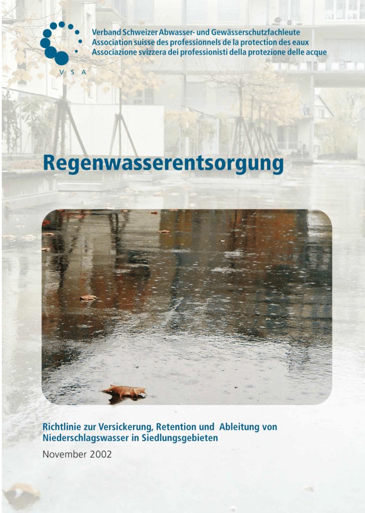 Titelblatt Regenwasserentsorgung 2002